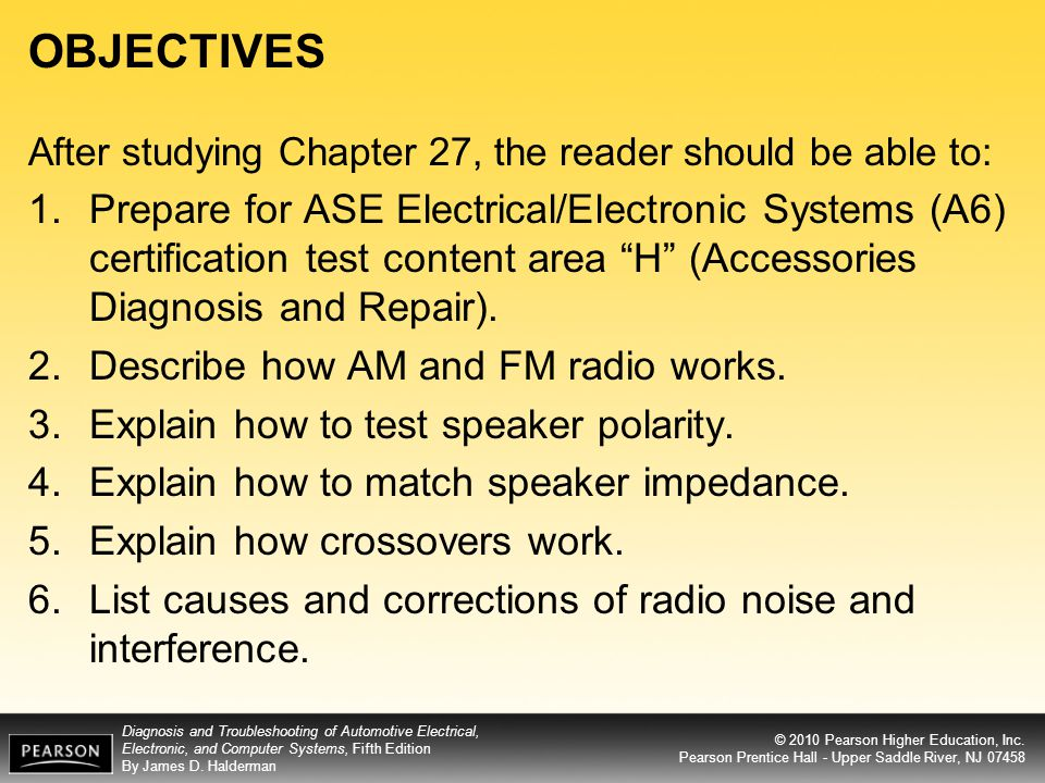 Objectives After Studying Chapter 27 The Reader Should Be Able To