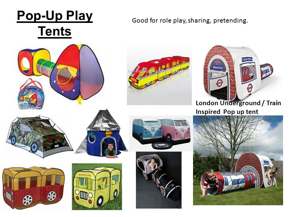 Pop-Up Play Tents Good for role play sharing pretending.  sc 1 st  SlidePlayer & Theme: Worldwide Transport Context: Educational product for a child ...