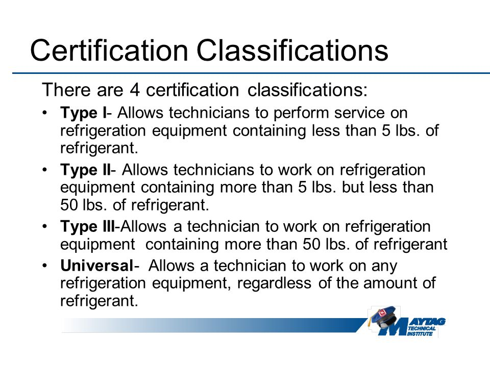 Maytag Services Refrigerant Handling Standard Operating Procedures