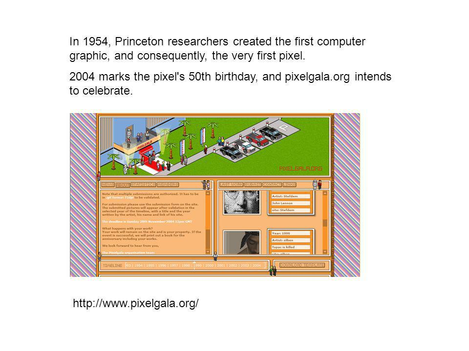 In 1954, Princeton researchers created the first computer graphic, and consequently, the very first pixel.