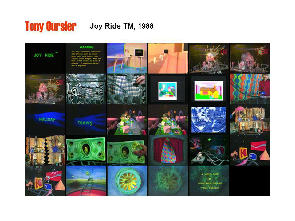 Tony Oursler Joy Ride TM, 1988