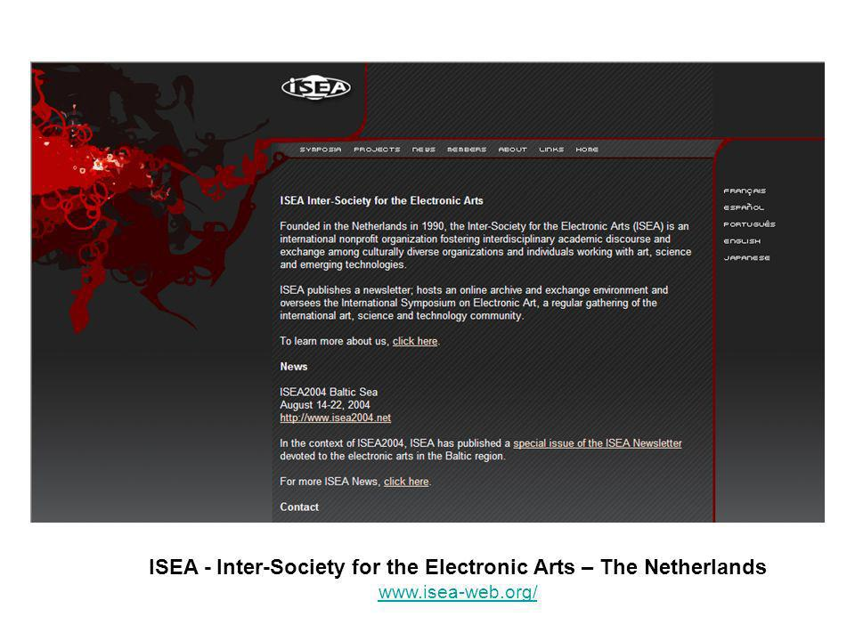 ISEA - Inter-Society for the Electronic Arts – The Netherlands