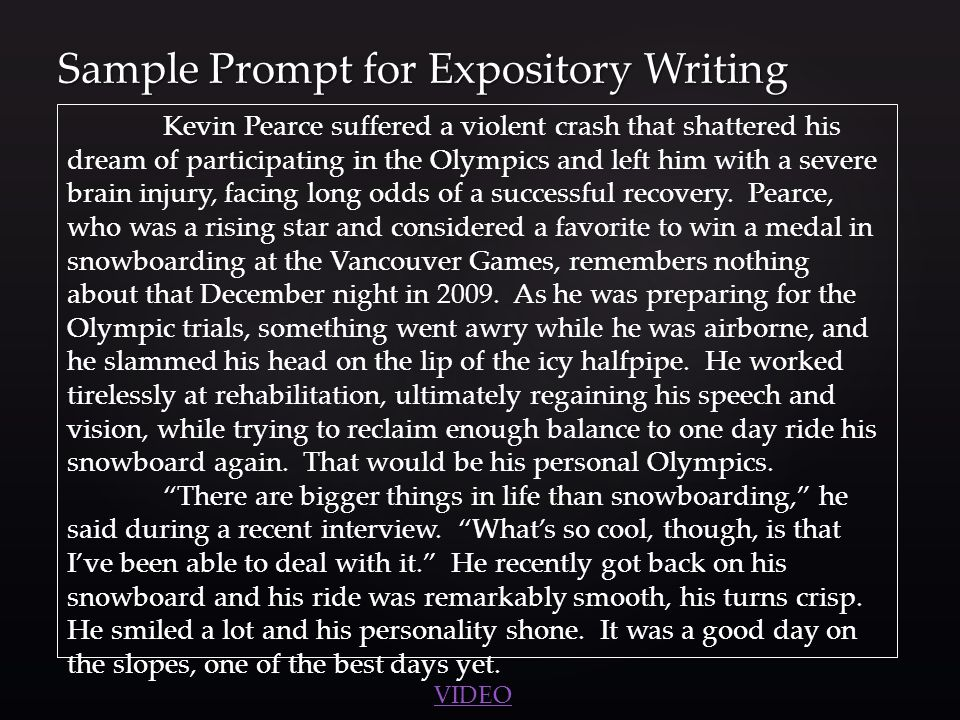 an expository essay prompt Expository writing topic write an essay on the best way to deal with a bully talk about the pros and cons of telling a teacher, fighting back, using kindness, etc.