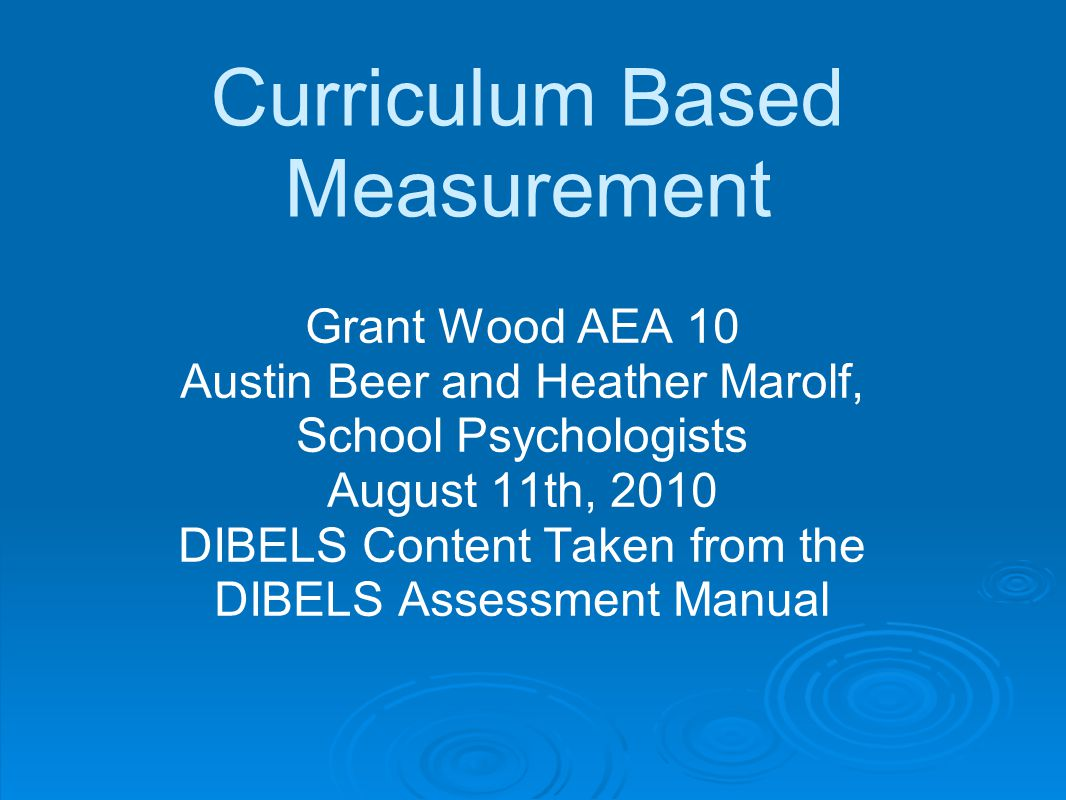 Curriculum Based Measurement - ppt download
