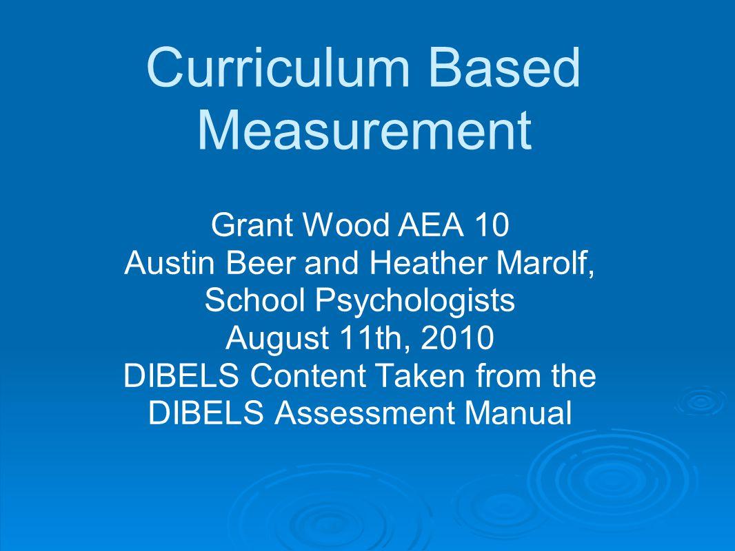 Curriculum Based Measurement