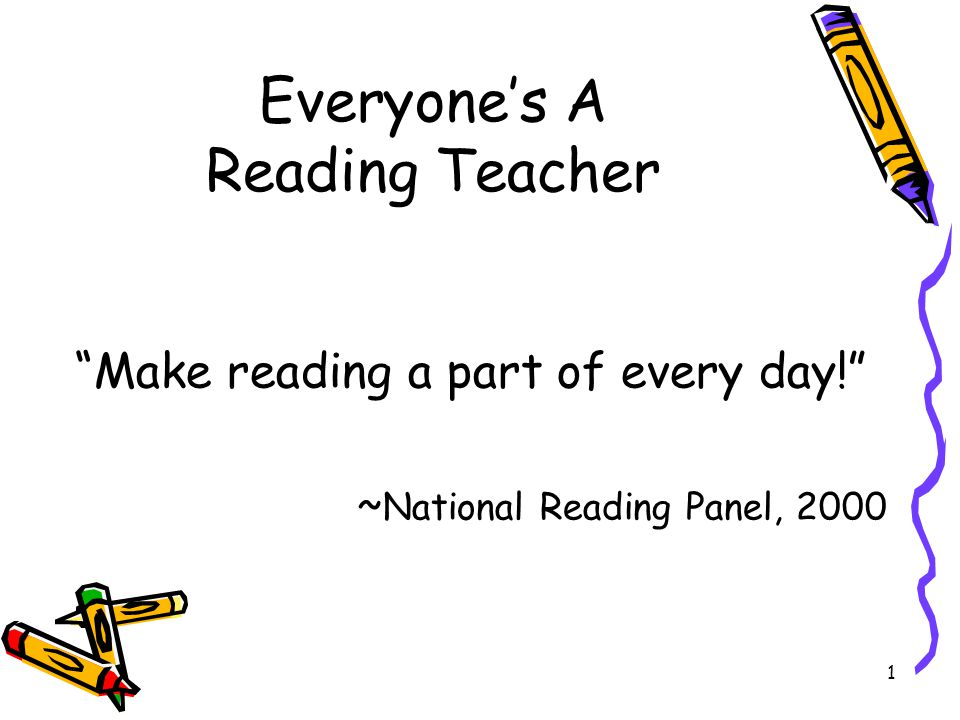 Everyone's A Reading Teacher