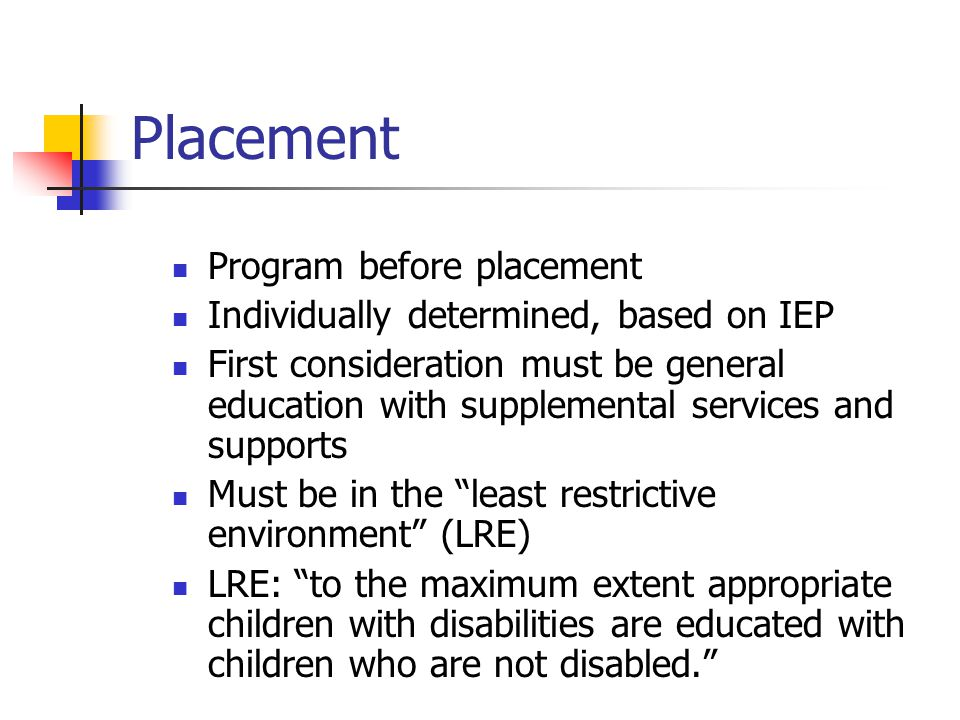 Placement Program before placement