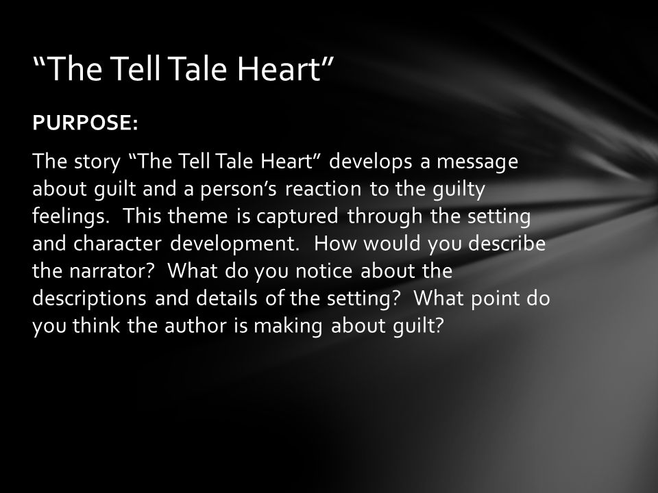 what is the setting of tell tale heart