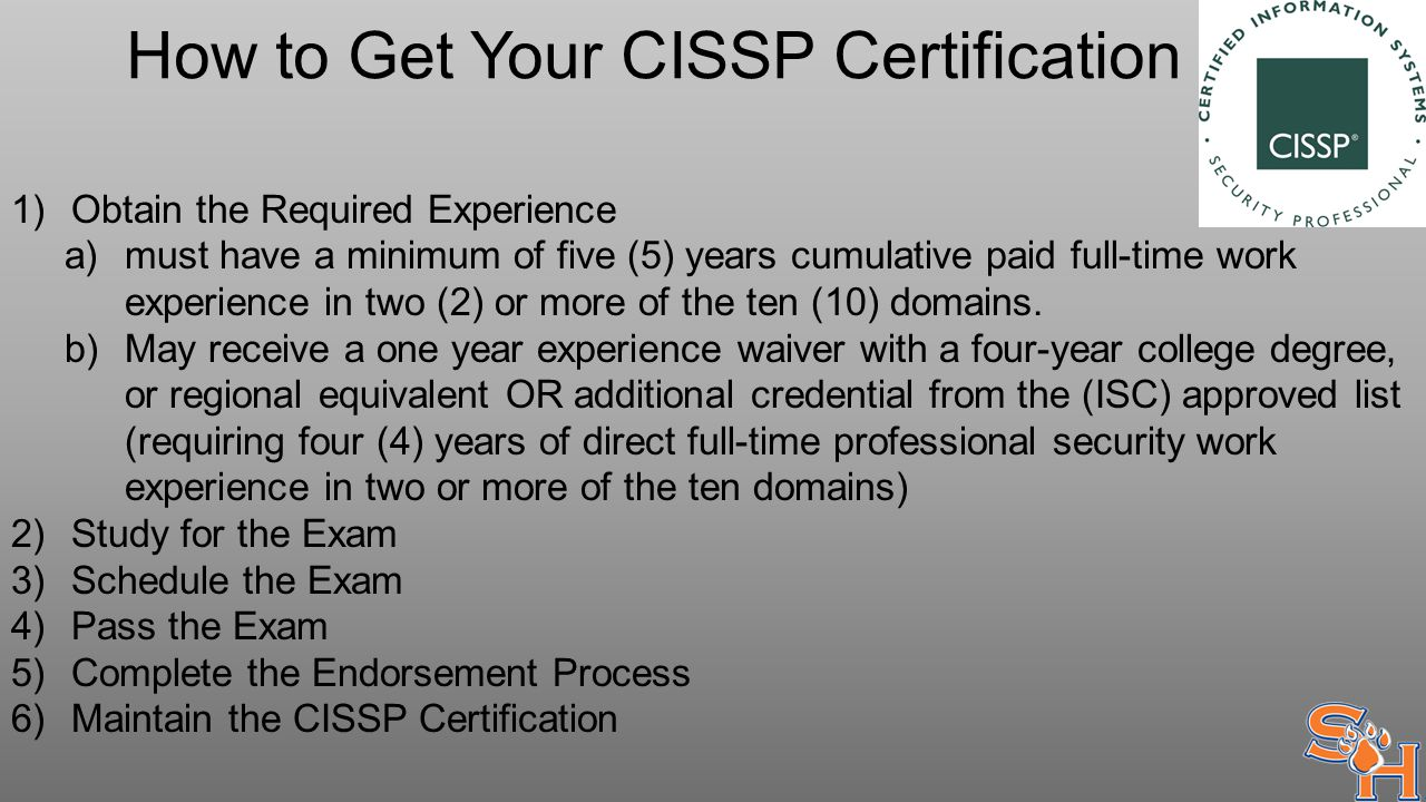 How I Passed The Cissp Test Lessons Learned In Certification Ppt