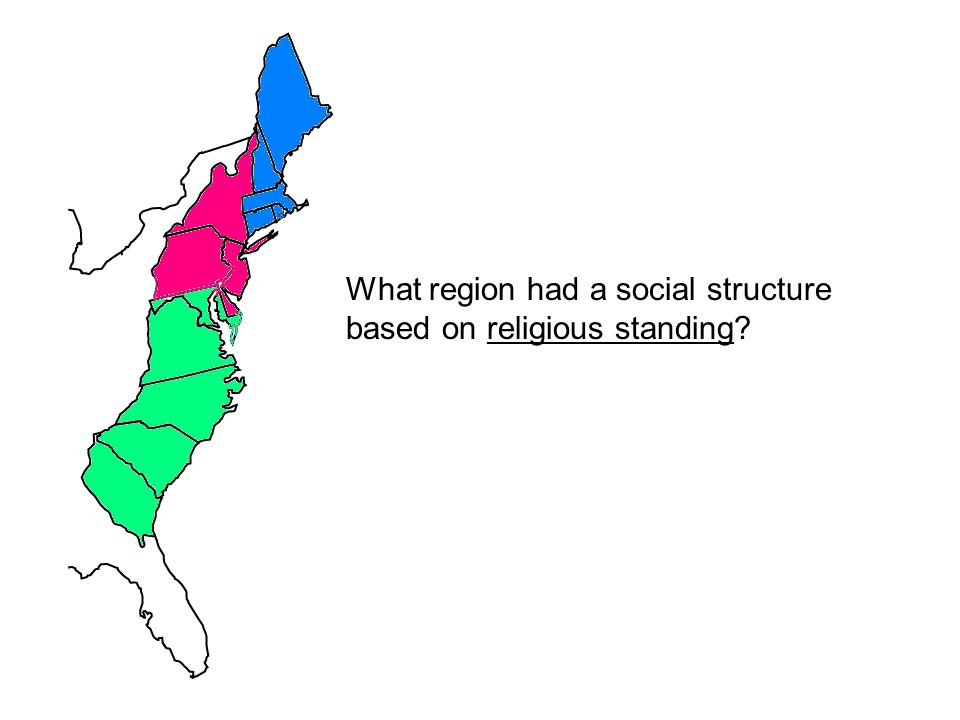 What region had a social structure