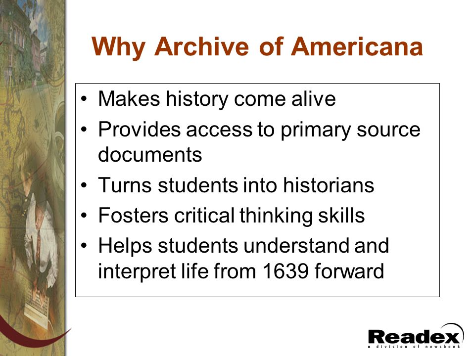 Why Archive of Americana