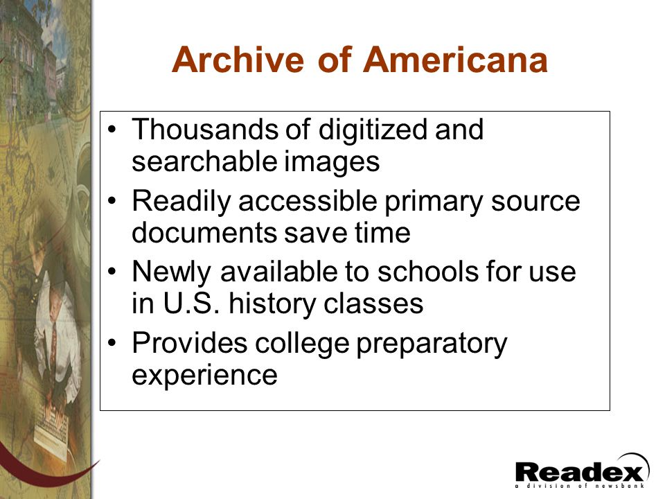 Archive of Americana Thousands of digitized and searchable images