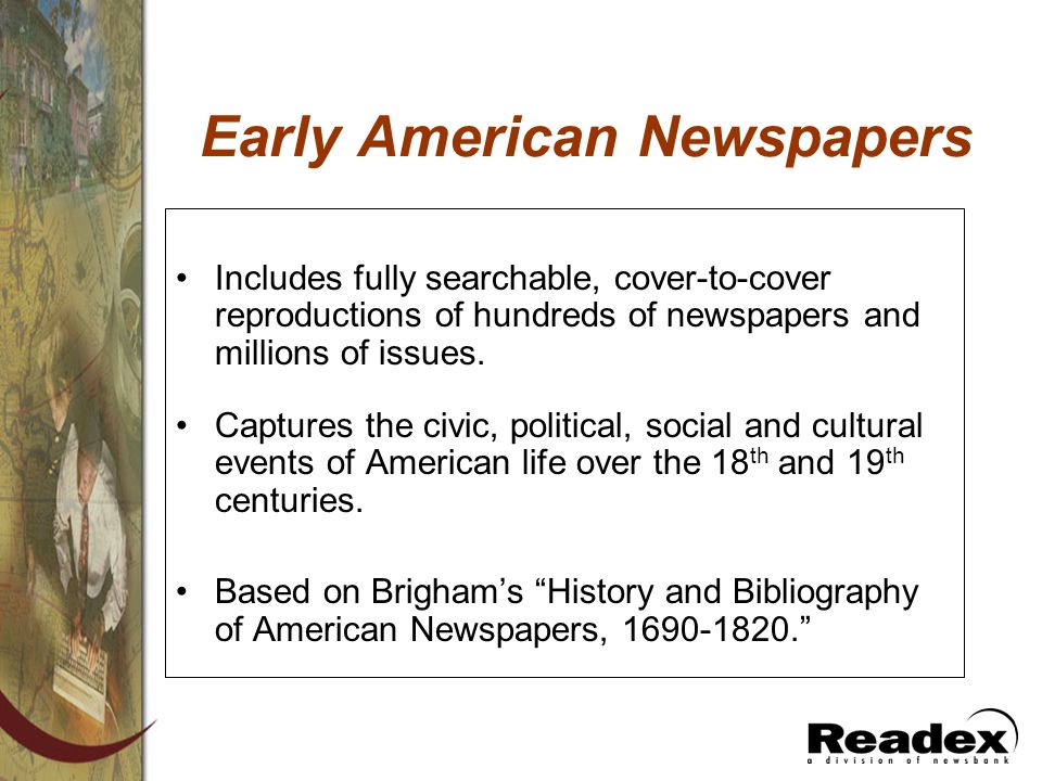 Early American Newspapers