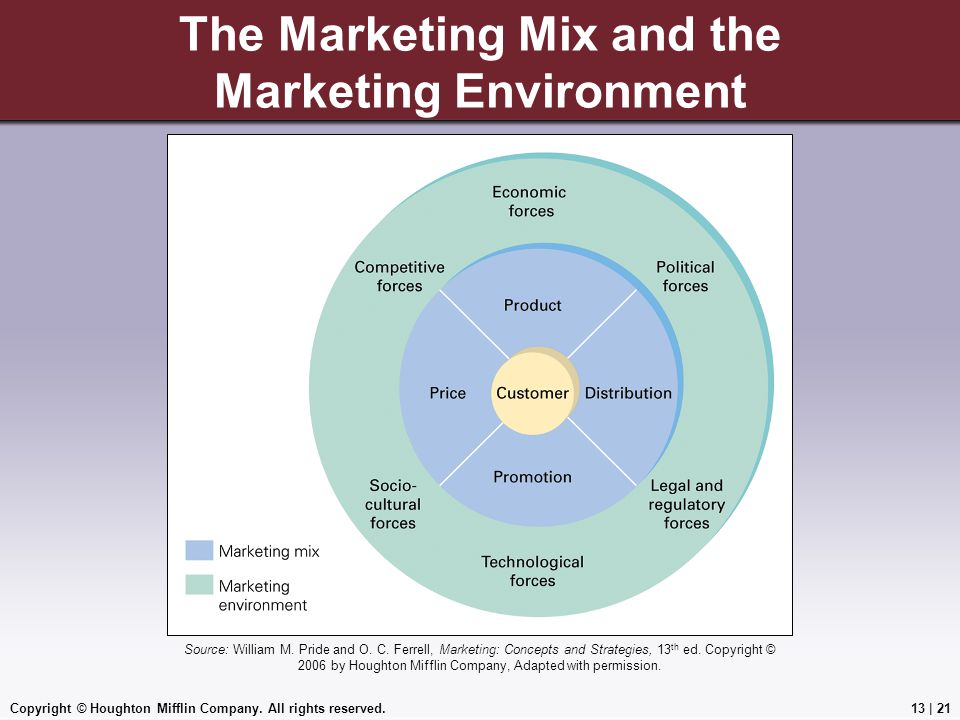 The Marketing Mix and the Marketing Environment