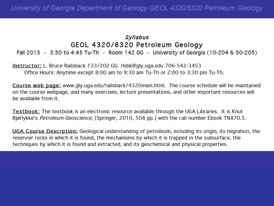 Geology 43206320 petroleum geology ppt download 9 university of georgia department of geology geol 43206320 petroleum geology fandeluxe Images