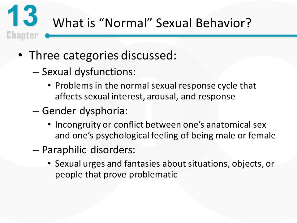 What is normal in sex