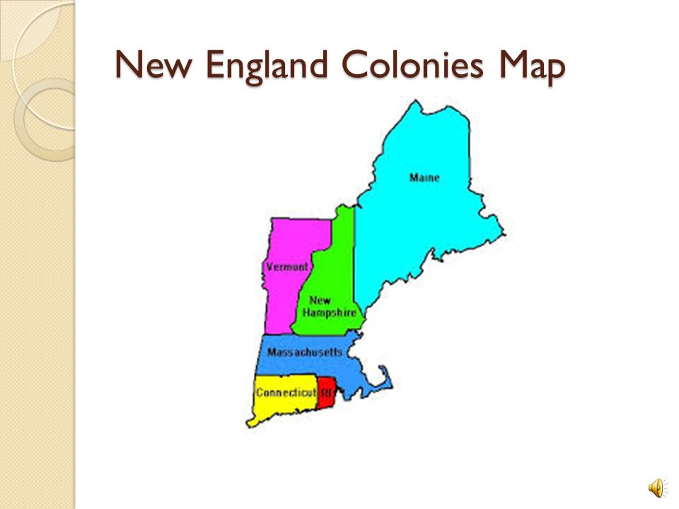 New England Colony Map The Thirteen Original Colonies   ppt download