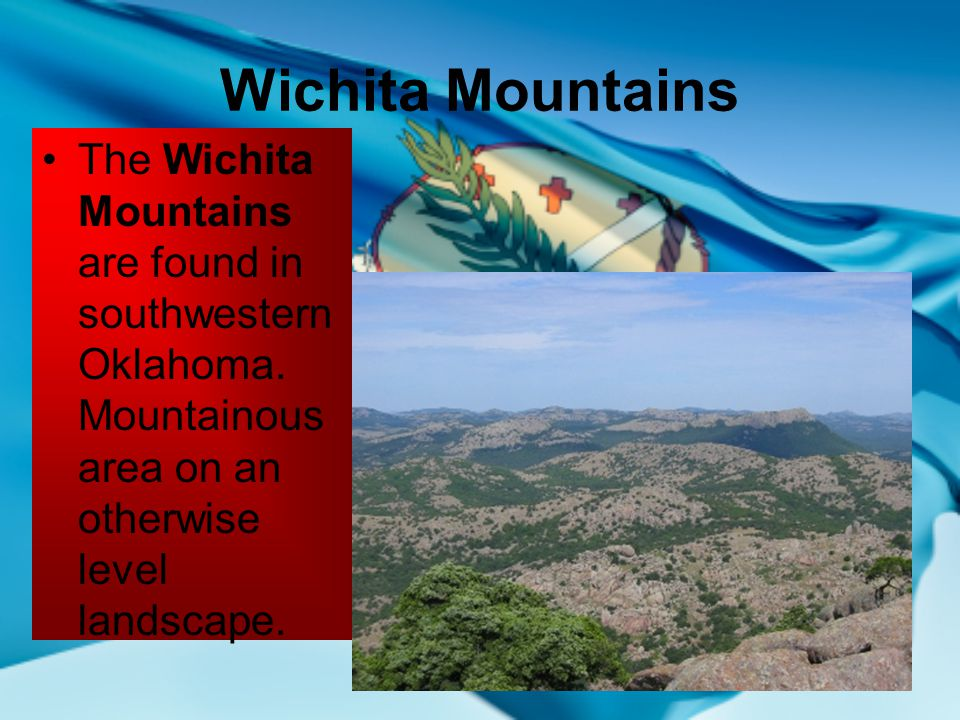 Oklahomas geographical regions ppt video online download wichita mountains the wichita mountains are found in southwestern oklahoma publicscrutiny