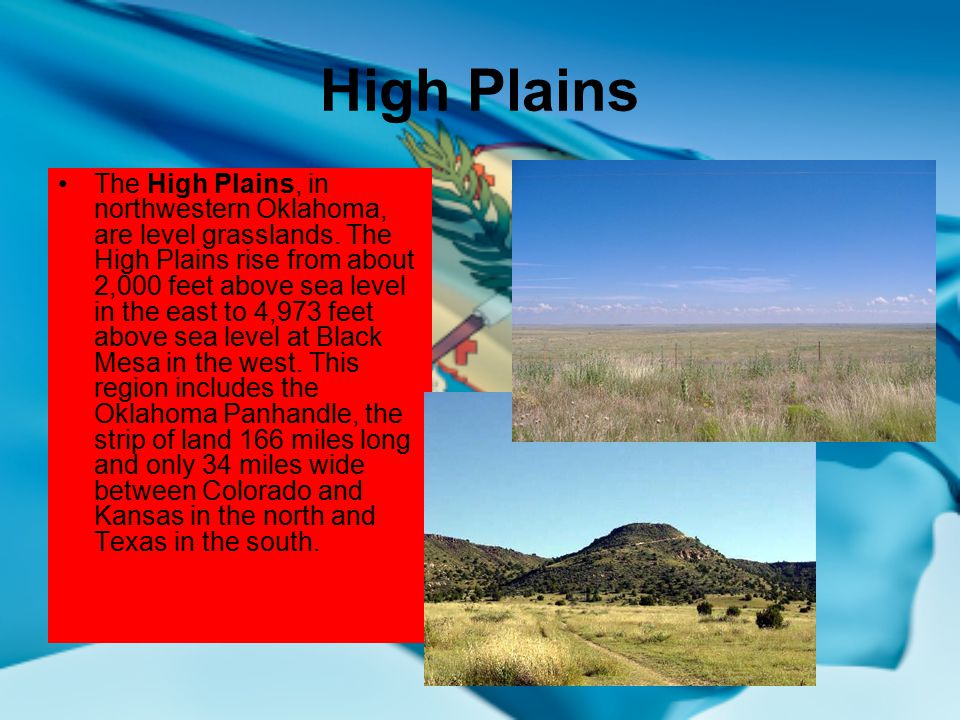 Oklahomas geographical regions ppt video online download high plains publicscrutiny