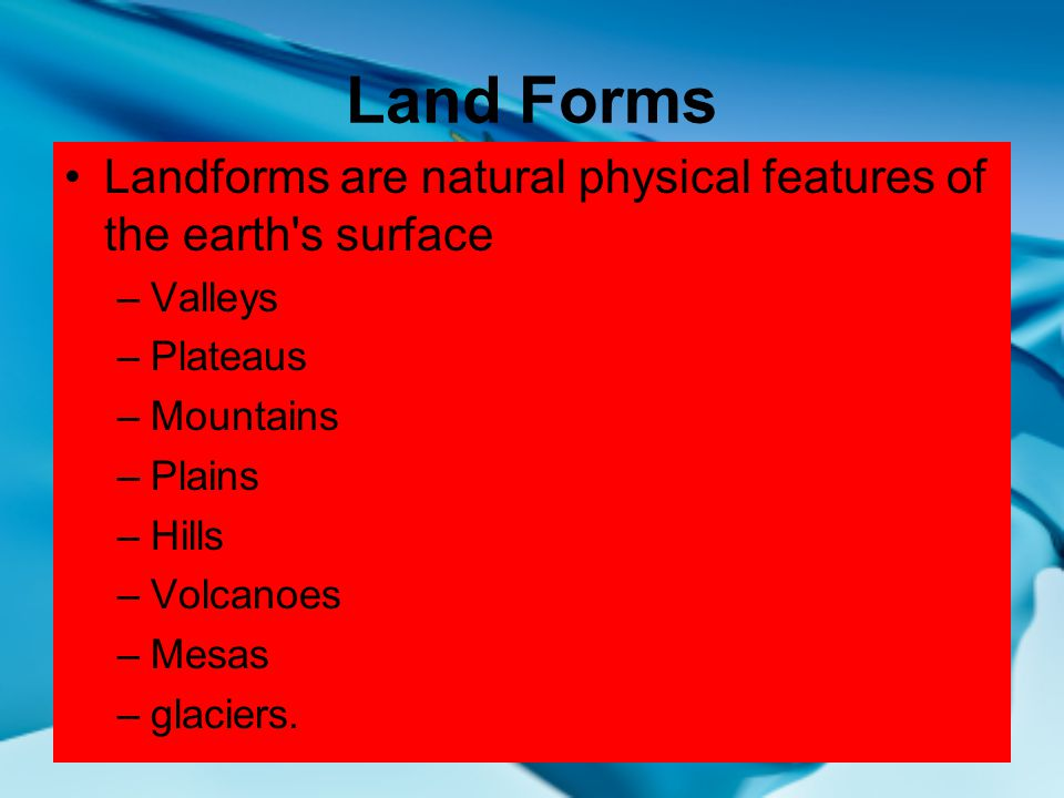 Oklahomas geographical regions ppt video online download land forms landforms are natural physical features of the earth s surface valleys plateaus publicscrutiny Choice Image