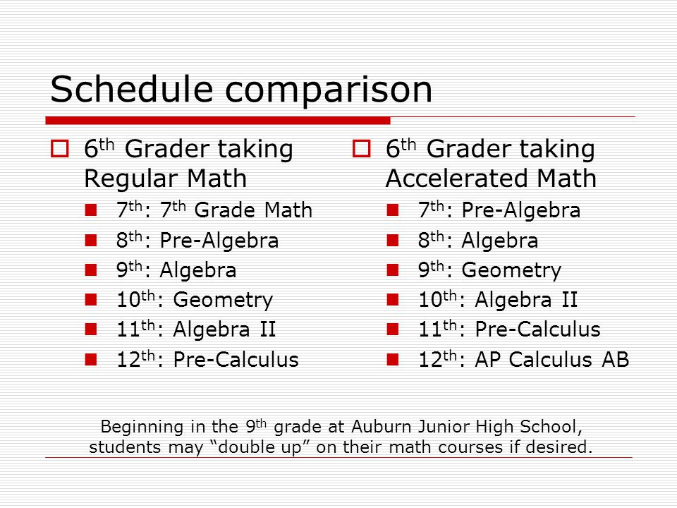 Options For Accelerated Math Students Ppt Download