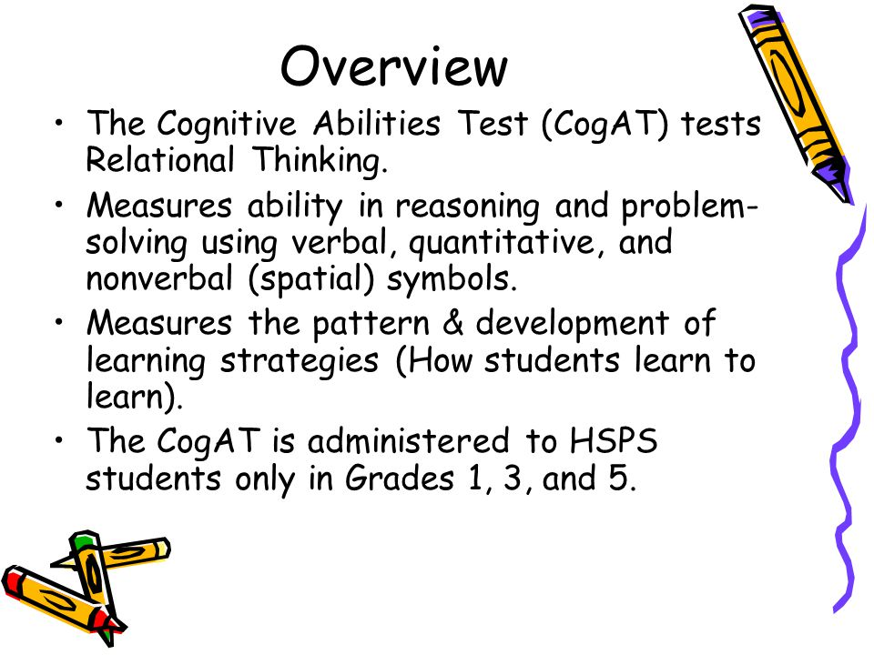 Interpreting results from the iowa test of basic skills and the overview the cognitive abilities test cogat tests relational thinking publicscrutiny Choice Image
