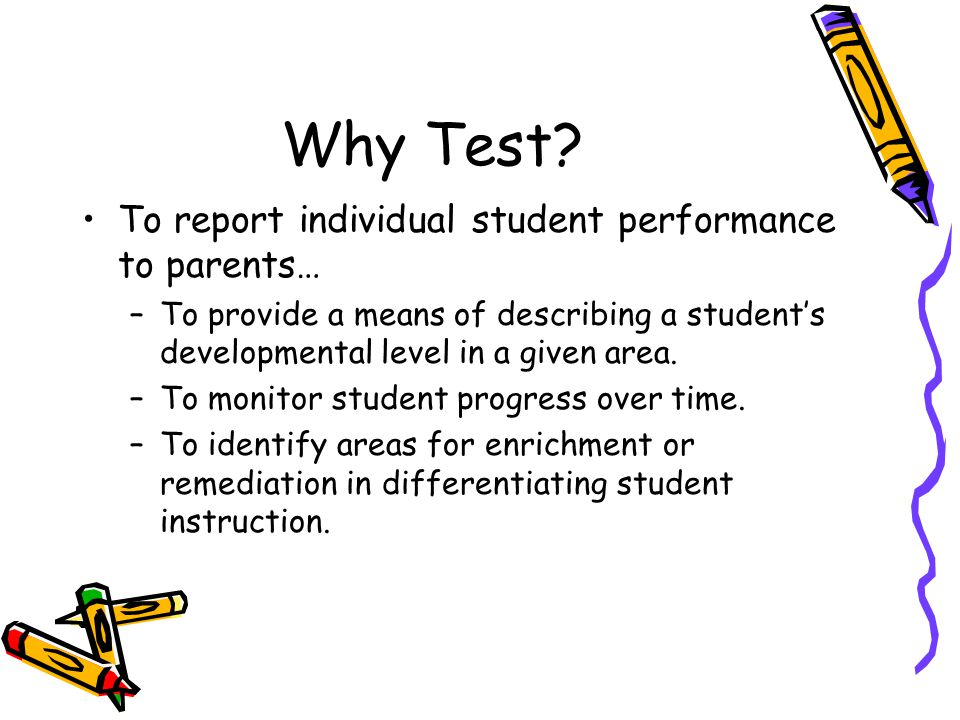 Interpreting results from the iowa test of basic skills and the why test to report individual student performance to parents publicscrutiny Choice Image
