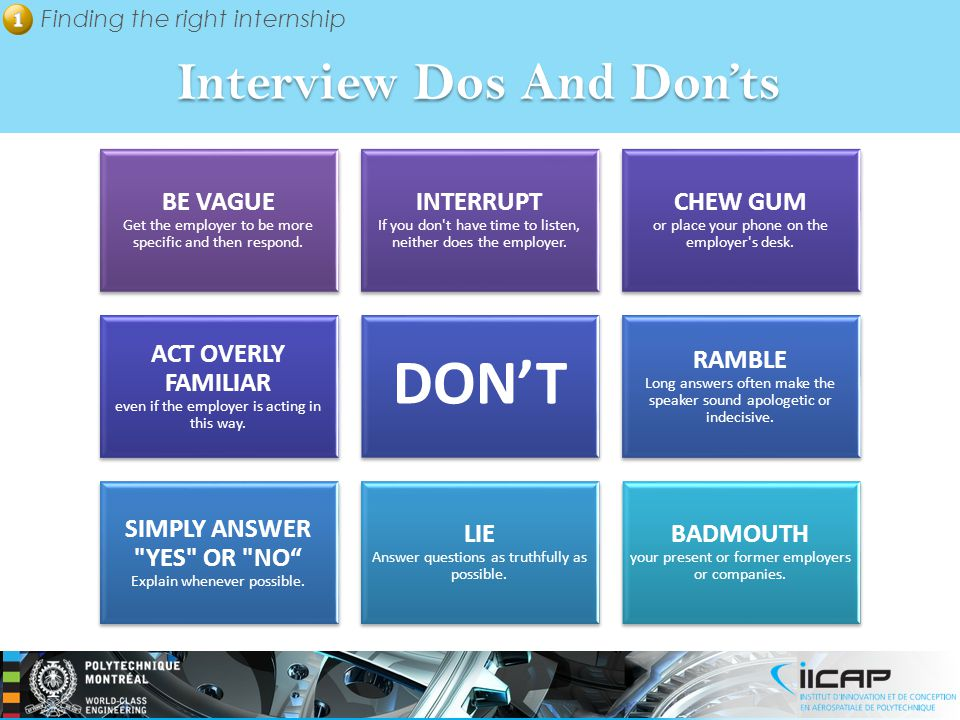 Interview Dos And Don'ts