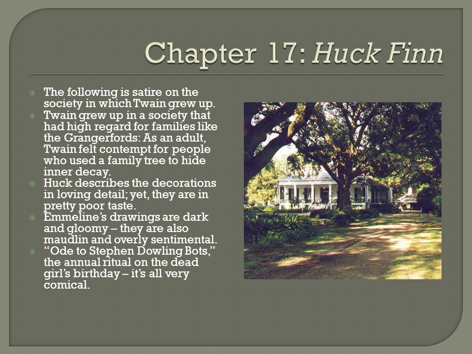 Adventures Of Huckleberry Finn Chapter Notes Ppt Video Online
