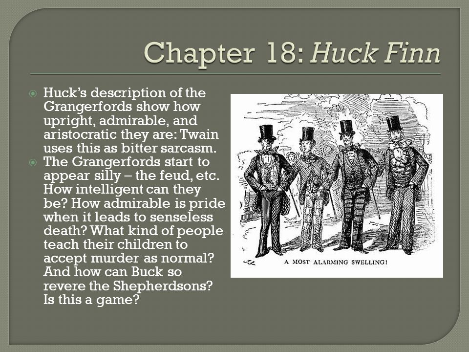 huck fin synthesis censorship satire To understand mark twain's cynicism in the adventure of huckleberry finn one must understand what satire is it can be defined as a literary work holding up human vices and follies to ridicule or scorn and to expose and discredit vice or folly satire is the tool that twain employs in his novel to.