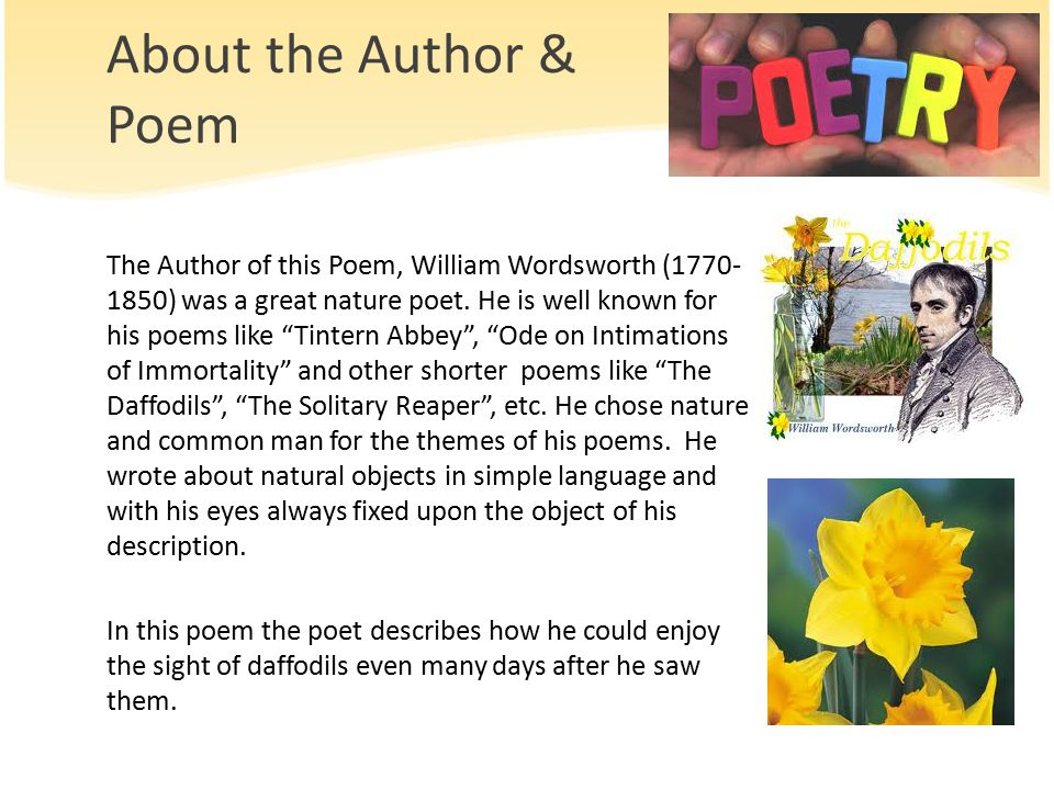 daffodils poem by william wordsworth meaning
