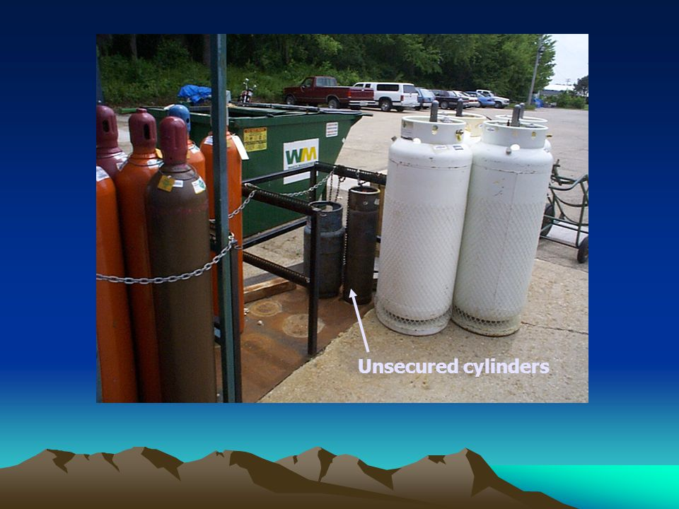 Unsecured cylinders