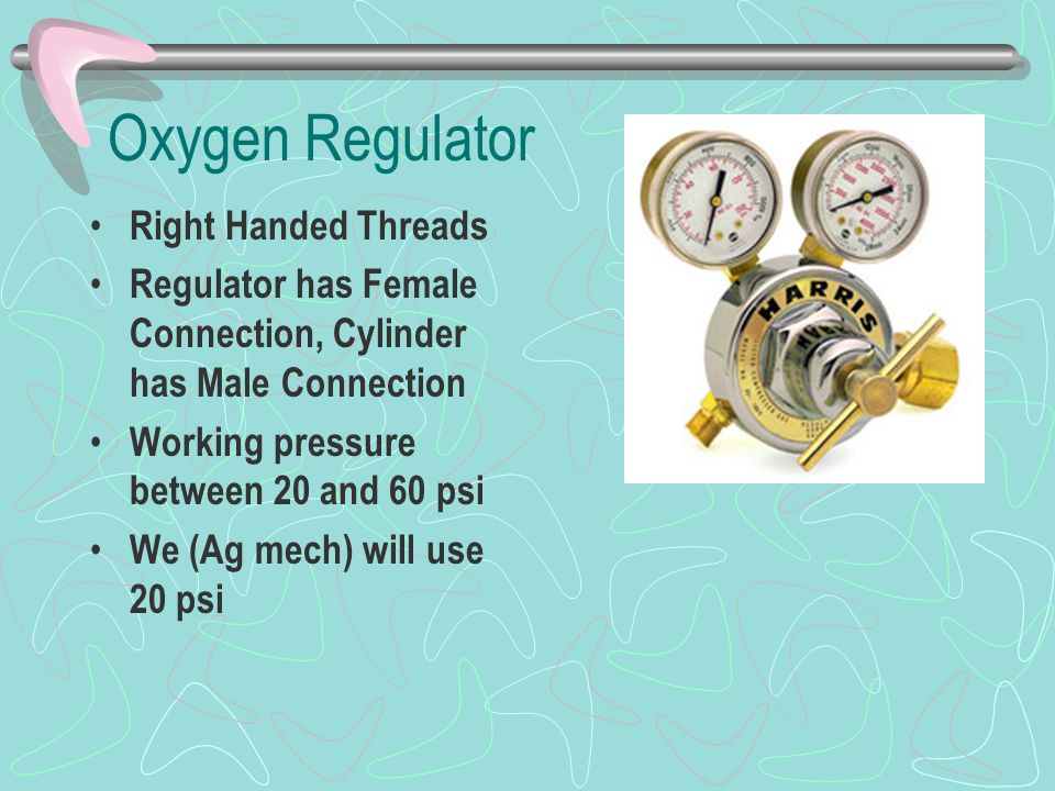 Oxygen Regulator Right Handed Threads
