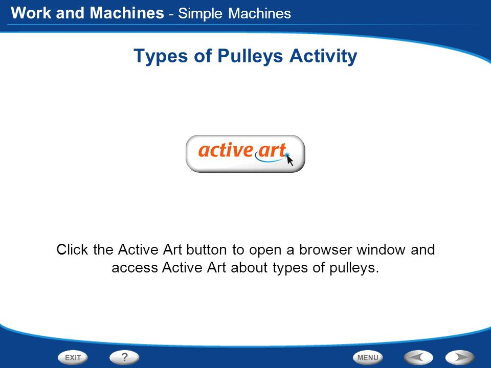 Types of Pulleys Activity