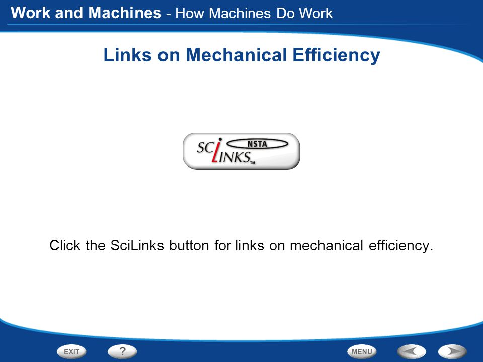 Links on Mechanical Efficiency