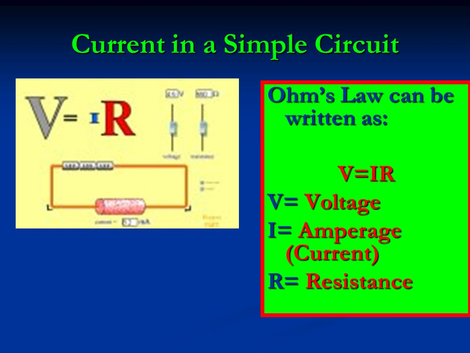 Current in a Simple Circuit