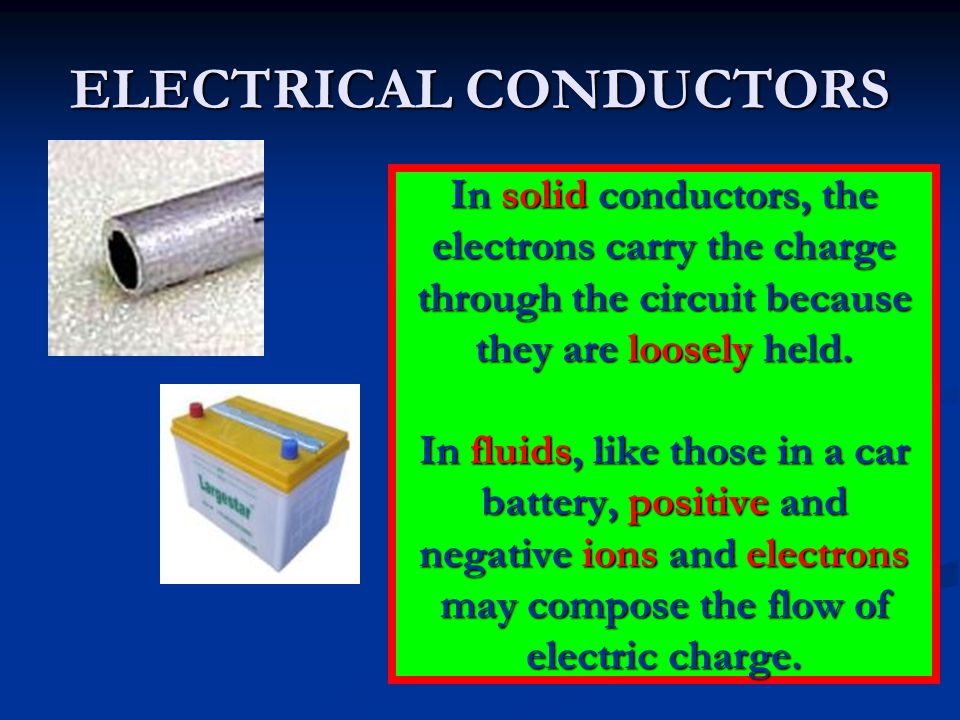 ELECTRICAL CONDUCTORS