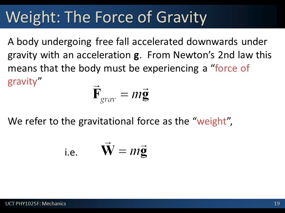 Weight: The Force of Gravity