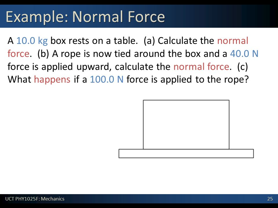 Example: Normal Force