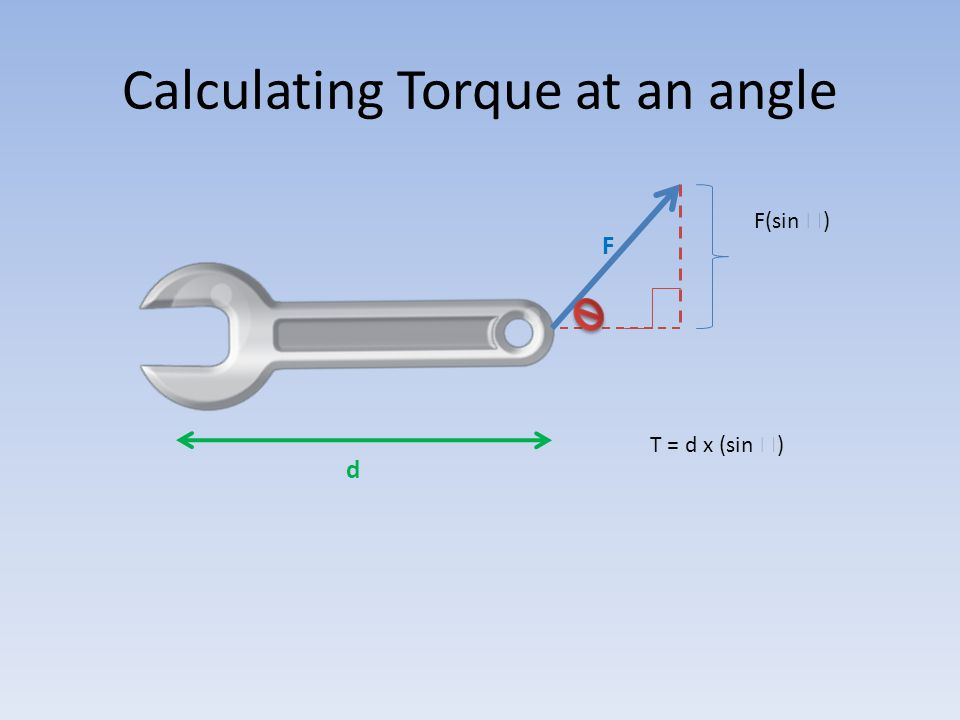 Calculating Torque at an angle