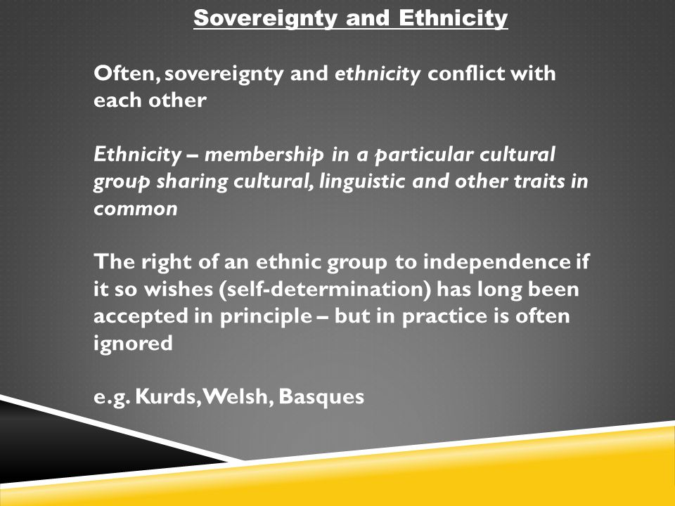 Sovereignty and Ethnicity