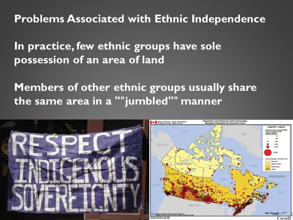 Problems Associated with Ethnic Independence