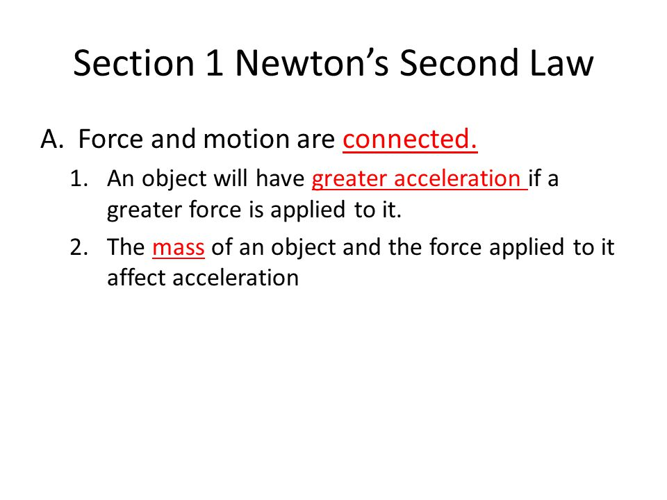 Note Taking Worksheet Forces Ppt Video Online Download. Section 1 Newton's Second Law. Worksheet. Laws Of Motion Worksheet At Mspartners.co