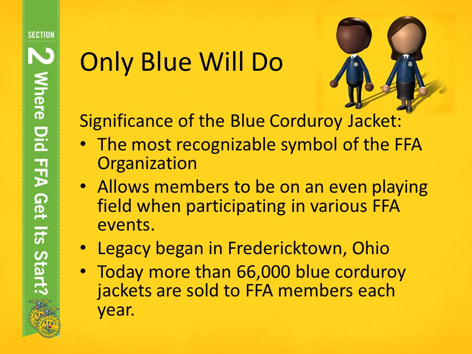 Only Blue Will Do Significance of the Blue Corduroy Jacket: