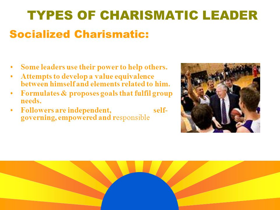 types of charismatic leaders