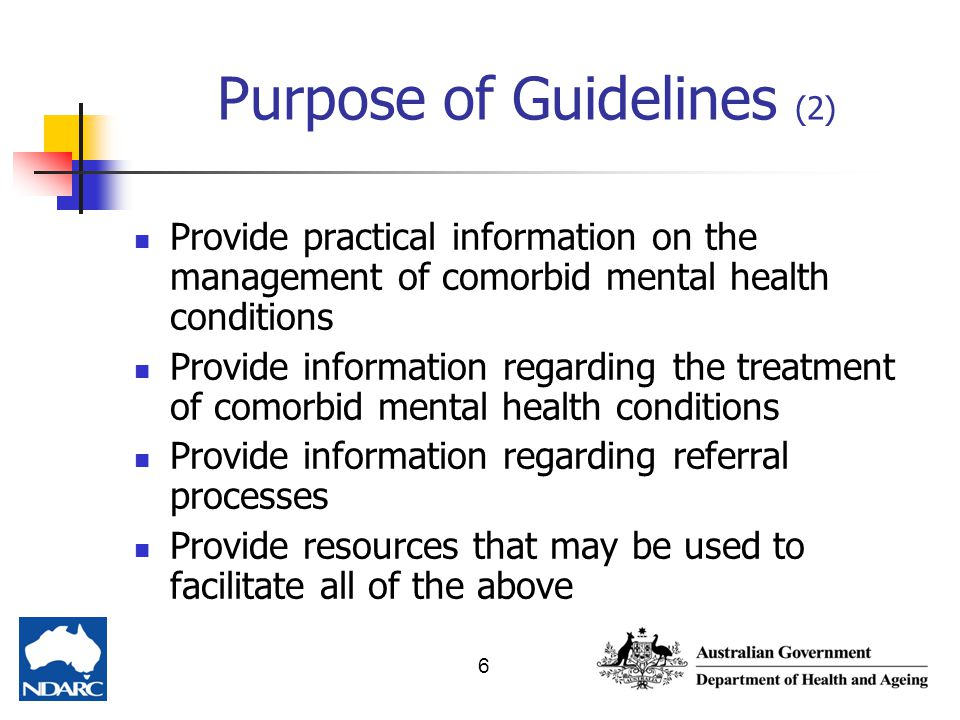 Purpose of Guidelines (2)