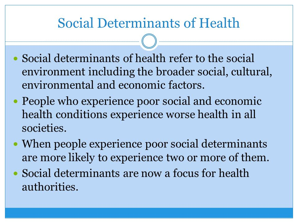 The Determinants Of Health Ppt Download