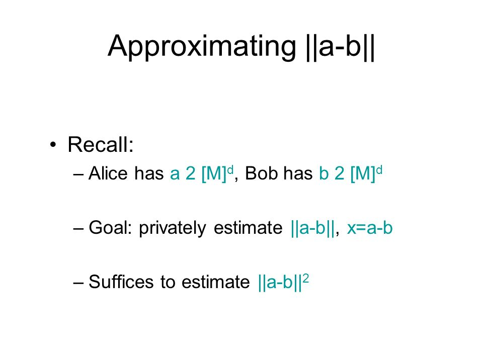 Approximating ||a-b||