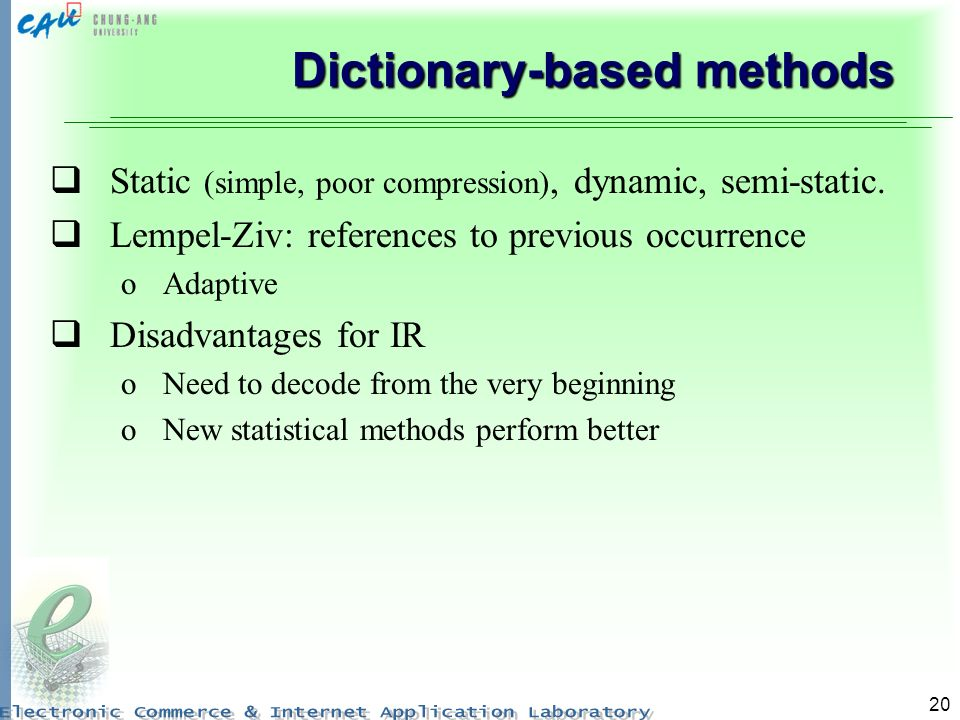 Dictionary-based methods