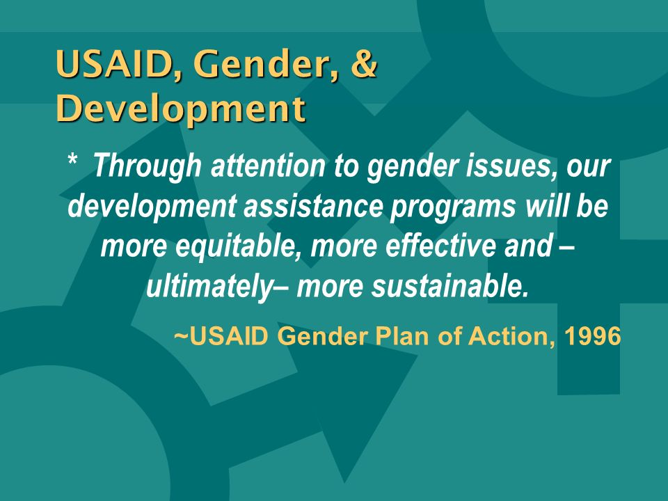 USAID, Gender, & Development
